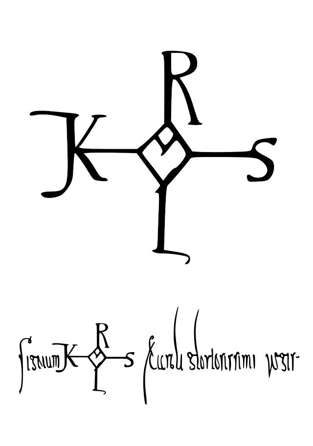 Monogramme de Charlemagne - Signature royale