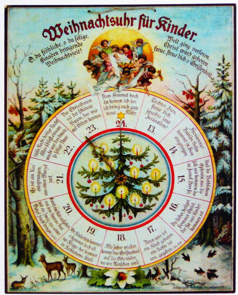 La petite histoire du calendrier de l'Avent originel - Horloge de Noël pour enfants - Calendrier de l'Avent - Friedrich Trümpler