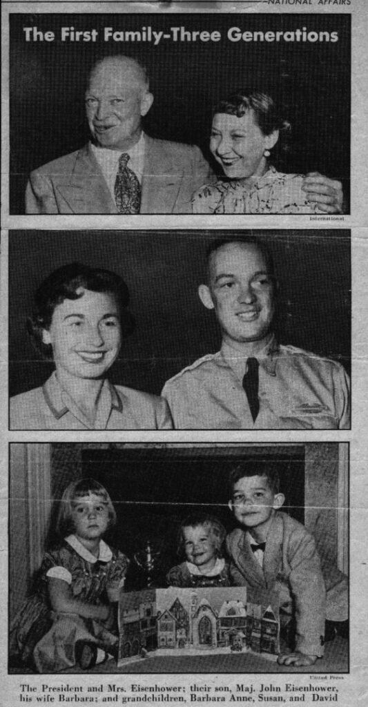 La petite histoire du calendrier de l'Avent originel - Le président Eisenhower et ses petits enfants