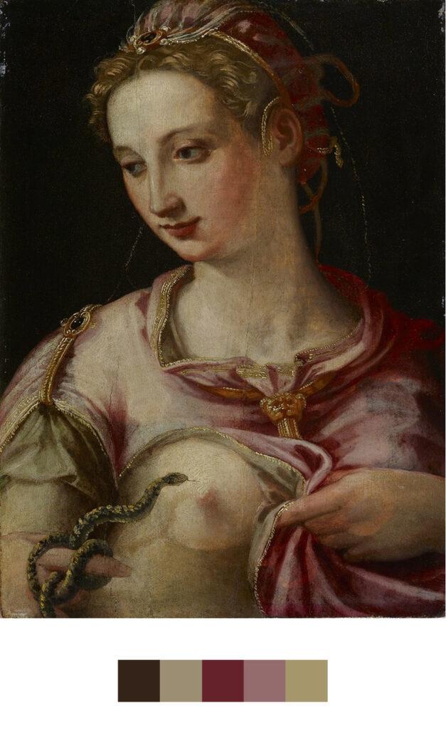 La mort de Cléopâtre - Peinture Atelier de Michele Tosini