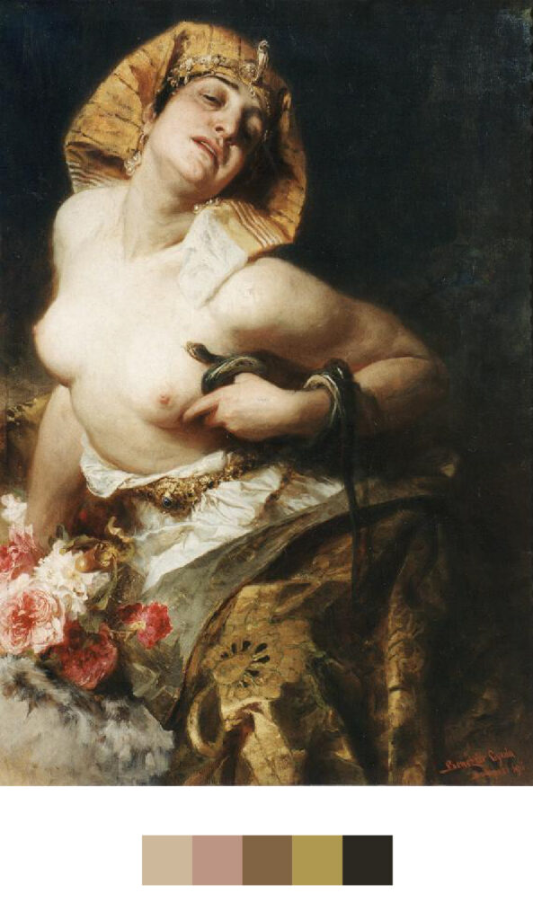La mort de Cléopâtre - Benczur Gyula