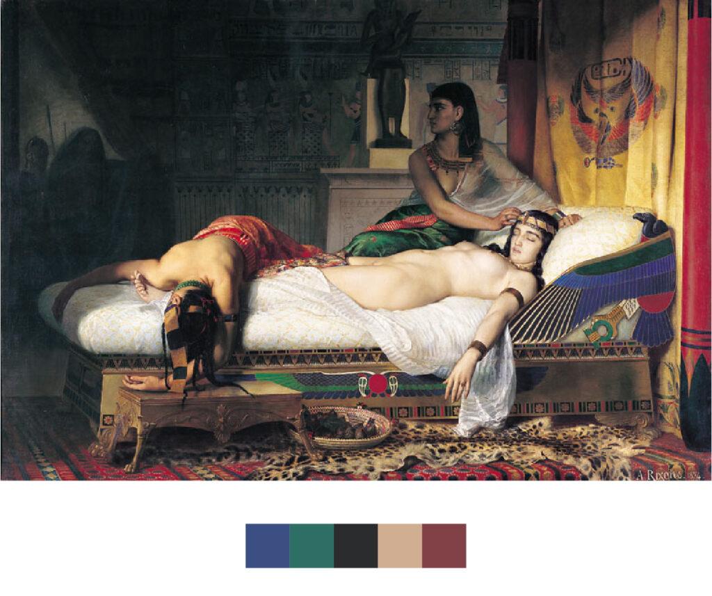 La mort de Cléopâtre - Jean-André Rixens