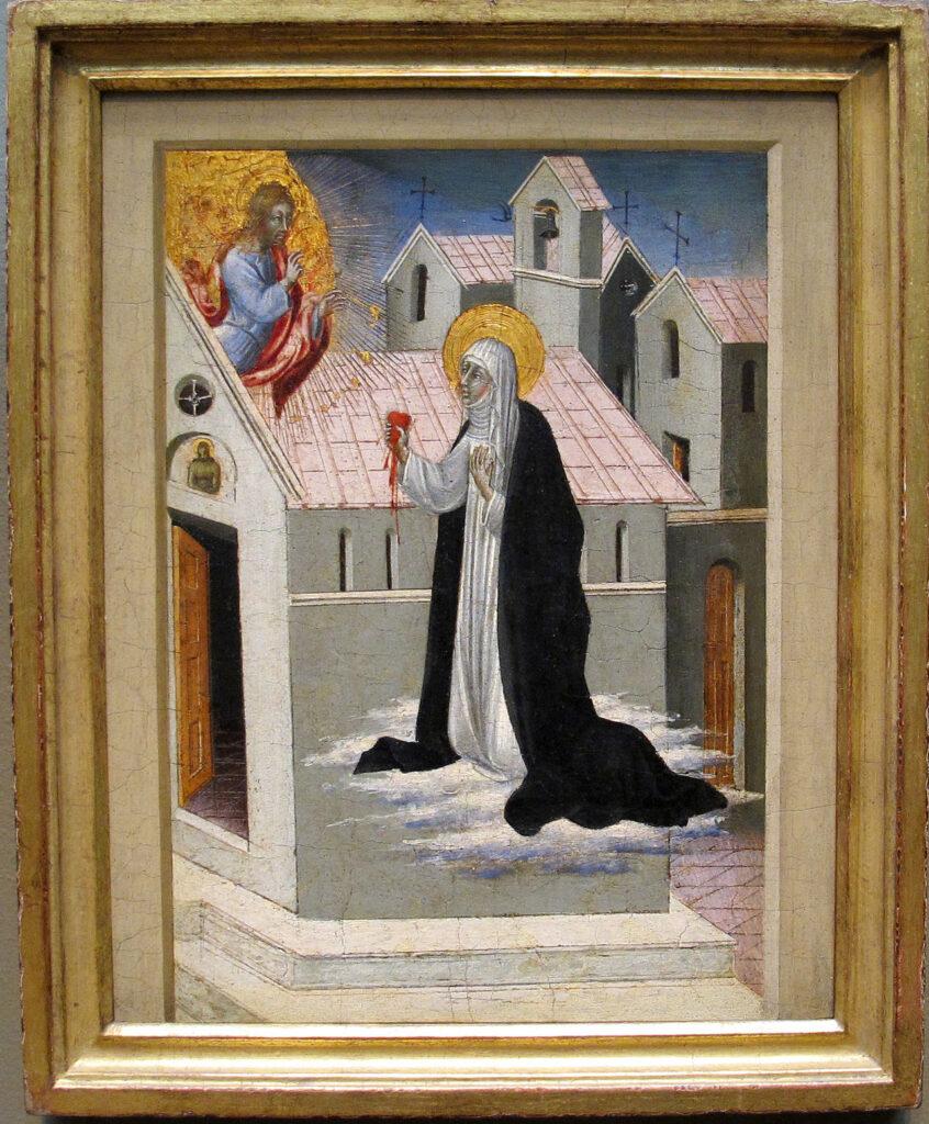Sainte Catherine de Sienne de Giovanni di Paolo - Pourquoi le coeur est-il le symbole de l'amour ?